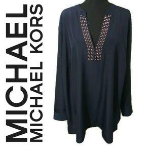 Michael Kors v-neck blouse 3X